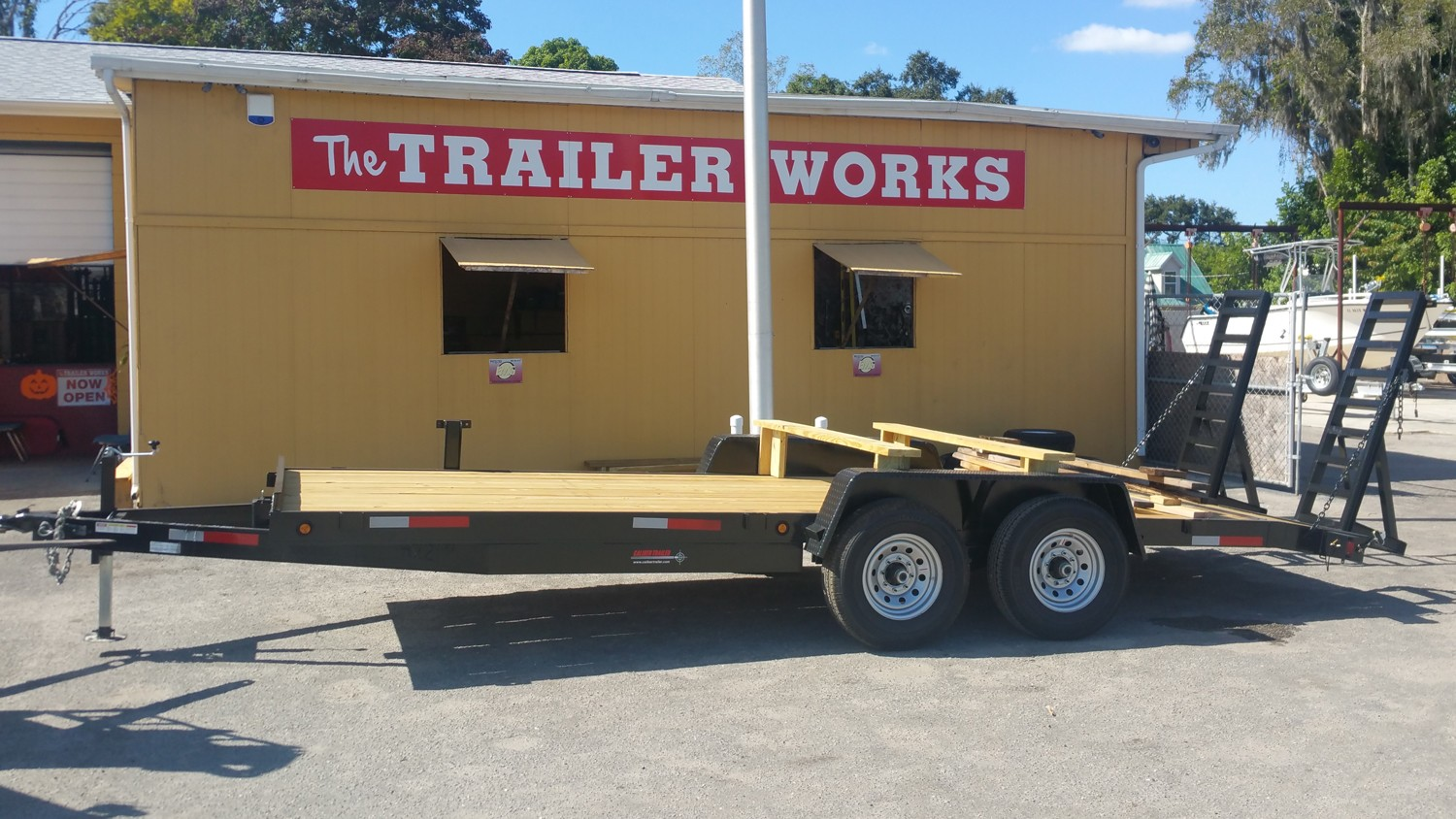 Tandem Axle Car Hauling Trailer